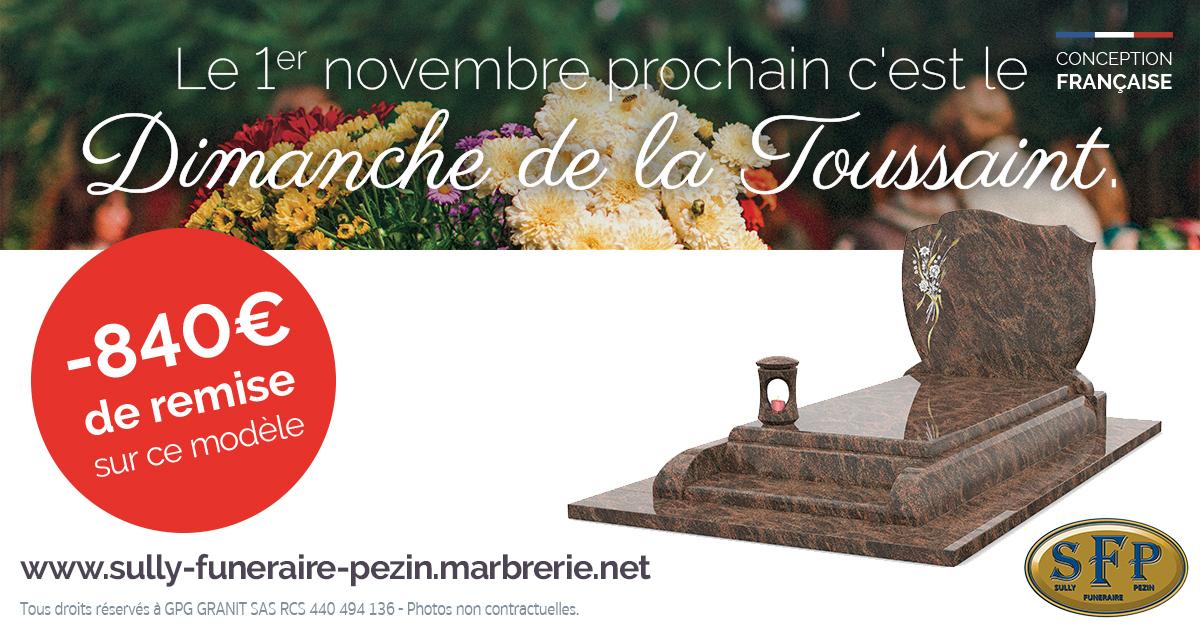 pompes funèbres pour la toussaint à Sully-sur-Loire